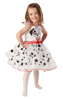 101 Dalmatiner Disney Ballerina Kinderkostüm weiss-schwarz-rot