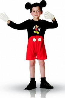 Michey Maus™-Kostüm für Kinder Disney™ schwarz-rot