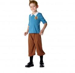Tim und Struppi™-Kostüm für Kinder Karneval blau-braun