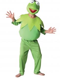 Kermit der Frosch™ Kinderkostüm Die Muppet Show™ Lizenzartikel grün-weiss-schwarz