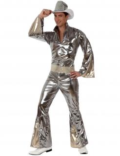 70er-Jahre Disco-Kostüm silber