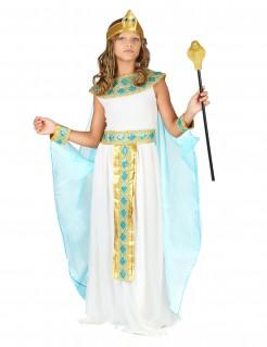 Kleopatra-Kinderkostüm ägypterin Kostüm weiss-gold-blau