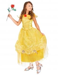 Prinzessinnen-Mädchen Märchenkleid gelb-rot
