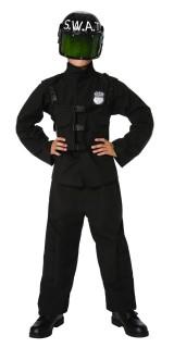 S.W.A.T.-Kinderkostüm Polizei-Spezialeinheit-Kostüm schwarz