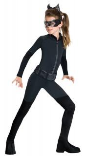 Catwoman™-Kostüm für Kinder Fasching schwarz