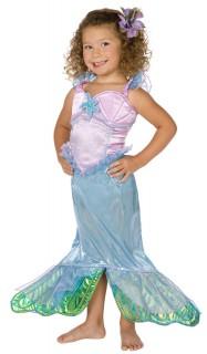 Meerjungfrau-Kostüm für Kinder lila-blau