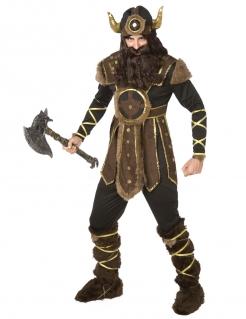 Wikinger Herren-Kostüm braun-gold