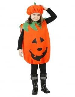 Kürbis-Kinderkostüm Kürbis-Anzug orange-schwarz-grün