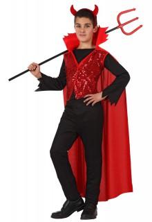 Edles Teufel Kinderkostüm rot-schwarz