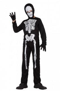 Skelett Halloween-Kinderkostüm schwarz-weiss