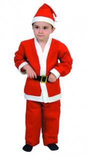 Weihnachtsmann-Kostüm für Kinder Weihnachtskostüm rot-weiss