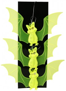 Fledermaus Lichterkette Halloween Party-Hängedeko gelb 23x63cm