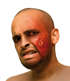 Falsche Wunde Halloween Rot