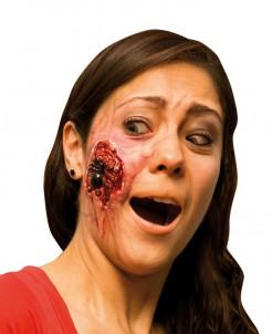 Falsche Wunde Spinne Halloween rot-schwarz