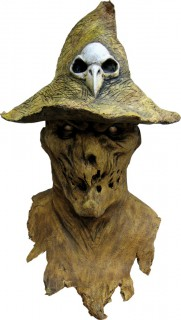 Halloween Maske Vogelscheuche braun