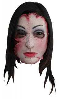 Fiese Mörderin Maske bunt