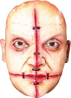 Narbenreiche Psychopathen-Maske Mörder-Maske hautfarben-rot