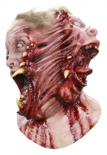 Horror-Mutant Halloween-Maske hautfarben-rot