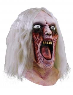 Blutender Zombie-Beisser Halloween-Maske hautfarben-rot