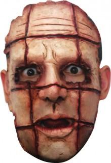Zerschlitzter Psycho Halloween-Maske hautfarben-rot