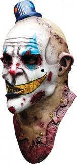 Killer-Clown Halloween-Maske weiss-bunt