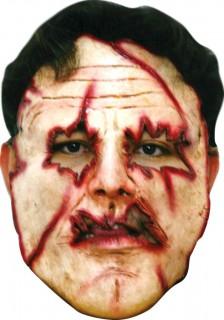 Serienkiller-Maske mit Schnitten für Erwachsene Halloween