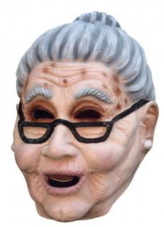 Grossmutter Maske hautfarben-grau
