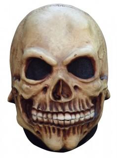 Skelett Halloween-Maske Totenkopf beige