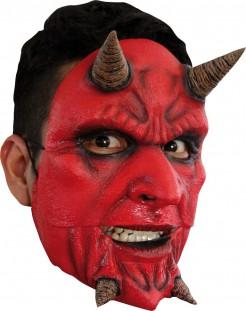 Teufel Maske Luzifer rot-schwarz