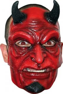 Teufelsmaske mit Hörnern für Erwachsene Halloween