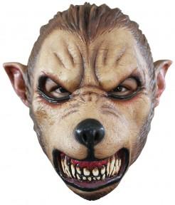 Wolf-Halloween-Maske für Erwachsene braun