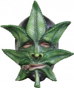Marihuana Blatt Maske grün
