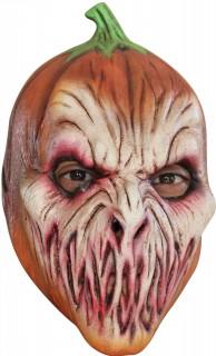 Kürbis-Maske Halloween Kostümzubehör für Teens orange