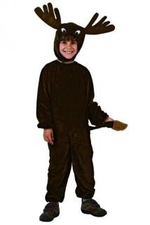 Rentier-Kinderkostüm Weihnachtskostüm schwarz