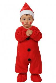 Weihnachtsmann-Kostüm für Babys rot