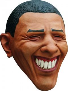 Obama-Maske Politiker-Maske braun-schwarz