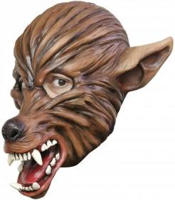 Wolfsmaske Halloween-Maske braun-rot