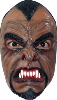 Wütender Werwolf Halloween-Maske braun-schwarz-weiss
