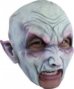 Vampir-Halbmaske Halloween Kostümaccessoire weiss-schwarz