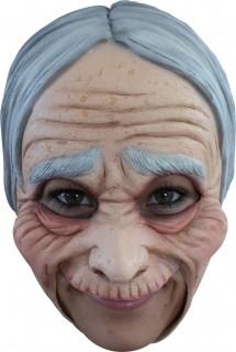 Alte Dame Maske beige-grau