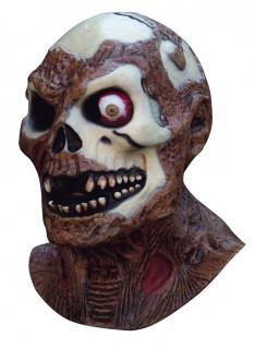 Halloween-Maske Skelett-Zombie braun-beige