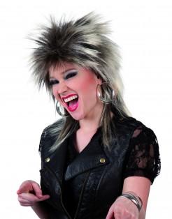 80er-Jahre Rockerin Perücke blond-braun