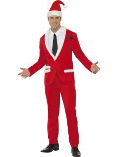 Weihnachtmann-Herrenanzug Nikolas rot-weiß