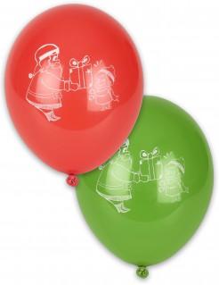 Weihnachtsballons Weihnachten Luftballons 4 Stück grün-rot