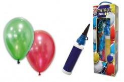 Party Zubehör Metallic Luftballons mit Pumpe bunt