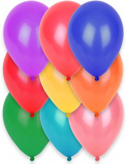 Party-Luftballons Party-Deko 12 Stück bunt 28cm