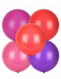 Party Luftballons Deluxe 5 Stück bunt 47 cm