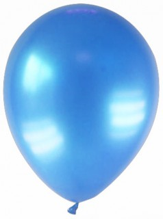 Party Zubehör Deko Luftballons 12 Stück blau 28 cm