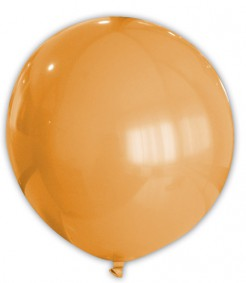 Riesiger runder Luftballon Raumdekoration orange 80 cm
