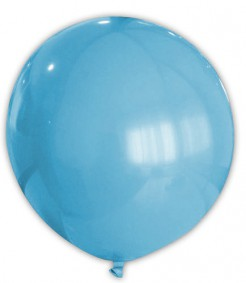 Riesen Party Dekoration XXL Luftballon hellblau 80 cm